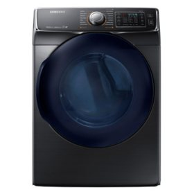 SAMSUNG 7.5 Cu. Ft. Gas Dryer with Steam Cycle, Black Stainless  - DV45K6500GV