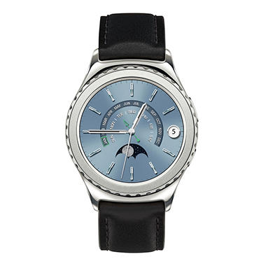 Samsung Gear S2 Classic with Leather Band - Platinum Finish