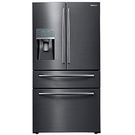 SAMSUNG 27.8 Cu. Ft. 4-Door French Door Food Showcase Door within Door Refrigerator - RF28JBEDBSG