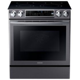 SAMSUNG 5.8 Cu. Ft. Slide-in ELECTRIC Range with Dual Convection - NE58K9500SG