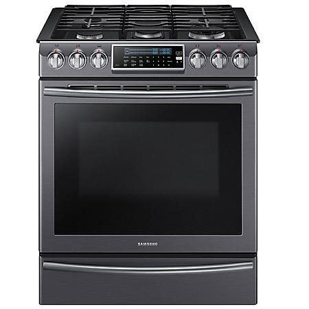 Samsung 5.8 cu. ft. Slide-In Gas Range with Dual Convection