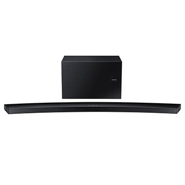 Samsung 5.1 Channel Wireless Multiroom Curved Soundbar with Wireless Subwoofer - Black