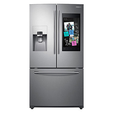 SAMSUNG 24.2 Cu. Ft. 3-Door French Door Refrigerator with Family Hub™- RF265BEAESR/SG (CHOOSE: Color)