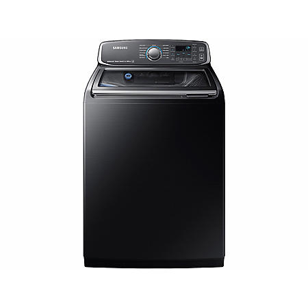 SAMSUNG activewash 5.2 Cu. Ft. Top-Load Washer, Black Stainless - WA52M7750AV