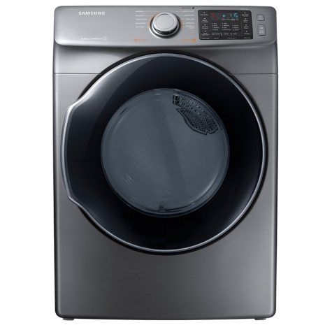 SAMSUNG 7.5 Cu. Ft. Electric Stackable Dryer with Steam Cycle, Platinum -  DVE45M5500P
