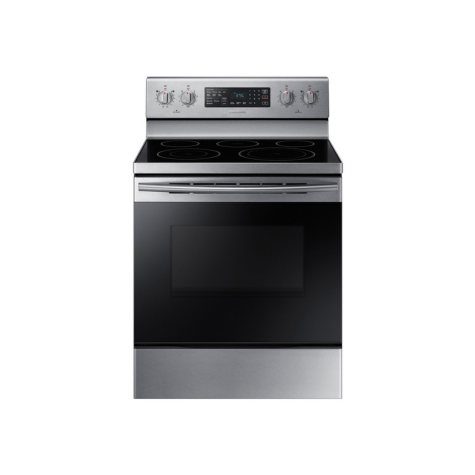 SAMSUNG 5.9 Cu. Ft. Freestanding Electric Range with 5 Element Smooth surface and Self-Cleaning, Stainless Steel - NE59M4320SS
