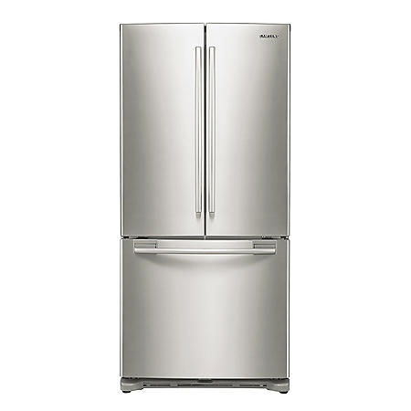SAMSUNG 17.5 Cu. Ft. Counter-Depth 3-Door French Door Refrigerator, Stainless Steel - RF18HFENBSR