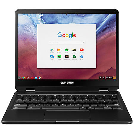 "Samsung 12.3"" Full HD Chromebook Pro, Intel Core m3 Processor, 4GB memory, 32GB Hard Drive, Backlit Keyboard, Expandable MicroSD slot, Chrome OS, Metallic Black"
