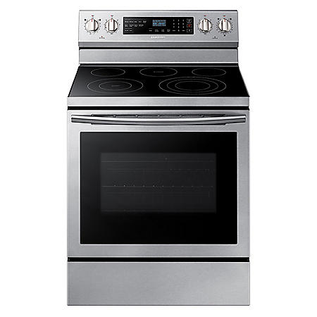 SAMSUNG 5.9 Cu. Ft. Freestanding Electric Range with True Convection, Stainless Steel - NE59N6630SS