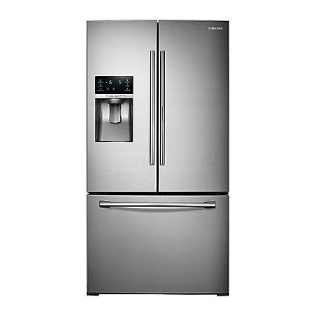 SAMSUNG 27.8 Cu. Ft. 3-Door French Door Food Showcase Refrigerator - RF28HDEDBSR
