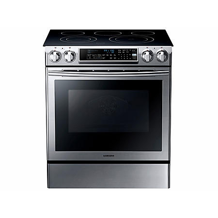 Samsung 5.8 cu. ft. Slide-In Range with Dual Convection