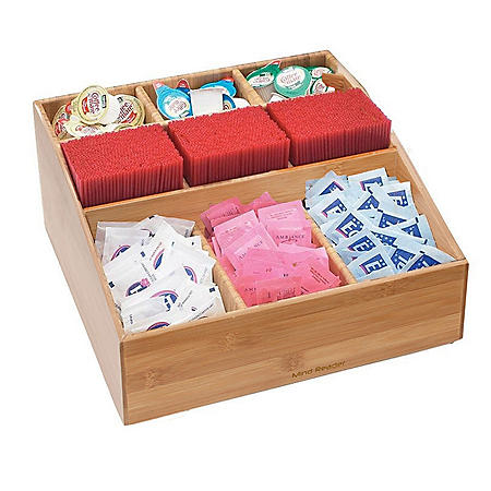 Mind Reader Square 9-Compartment Tea and Coffee Condiment Organizer