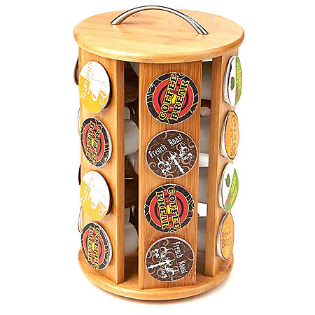 Mind Reader Bamboo Coffee Pod K-Cup Carousel