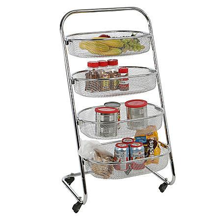 Mind Reader 4-Tier Rolling Basket Rack