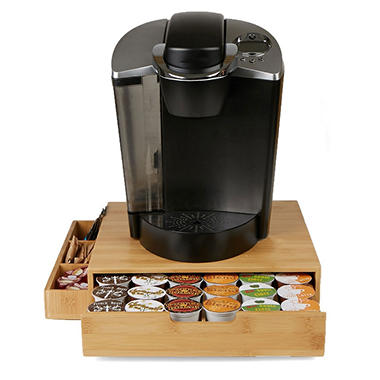 Mind Reader Bamboo K-Cup Drawer with Side Caddy
