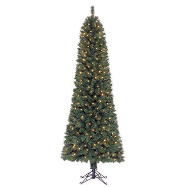 7' Pomona Color Changing Pre-lit Pencil Tree