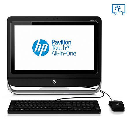 "HP Pavilion 20-F230 20"" Touchscreen Desktop Computer, AMD E1-2500, 4GB Memory, 500GB Hard Drive"