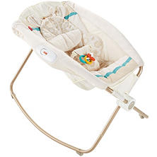 Fisher-Price Deluxe Newborn Rock 'n Play Sleeper, Soothing Savanna