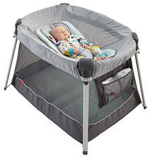 Fisher-Price Deluxe Ultra-Lite Day & Night Play Yard, Sweet Surroundings