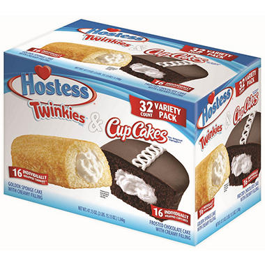 Hostess Twinkie and Cupcake Variety Pack (32 ct., 16 of each)