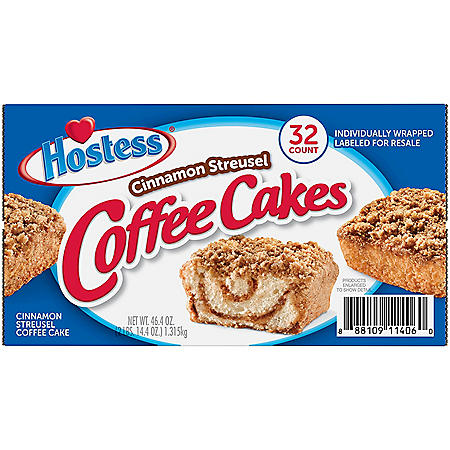 Hostess Cinnamon Streusel Coffee Cake (1.44oz / 32pk)