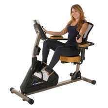 EXERPEUTIC 4000 Magnetic Recumbent Bike with Programmable Computer and Air Soft Seat
