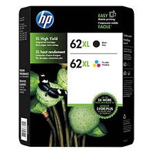 HP 62 XL High-Yield Ink, Combo Pack (2 pk.)