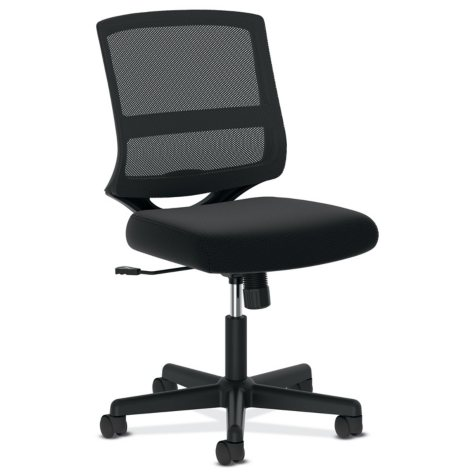 basyx VL206 Mesh Mid-Back Task Chair, Black
