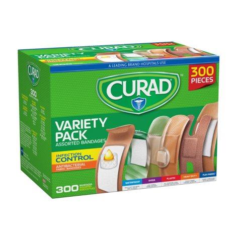 Curad Adhesive Bandages Variety Pack (300 ct.)