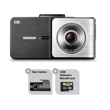 THINKWARE X500 Dash Cam Bundle with Rear View Camera and 32GB MicroSD Card
