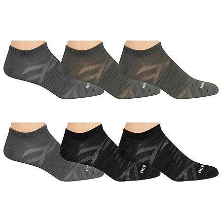 New Balance Men's 6-Pack Flat Knit No Show Socks