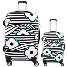 fūl Floral Wave Hard Case Spinner Luggage 2-Piece Set