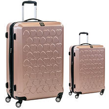 fūl Hearts Hard Case Spinner Luggage 2-Piece Set