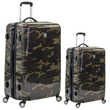 f?l Camouflage Hard Case Spinner Luggage 2-Piece Set