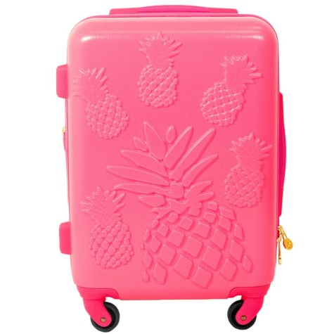 "Macbeth Collection Molded Pineapple 21"" Spinner Suitcase"