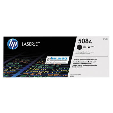HP 508A (CF360A) Original LaserJet Toner Cartridge, Black