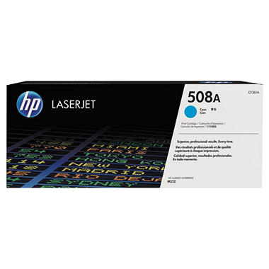HP 508A (CF361A) Original LaserJet Toner Cartridge, Cyan
