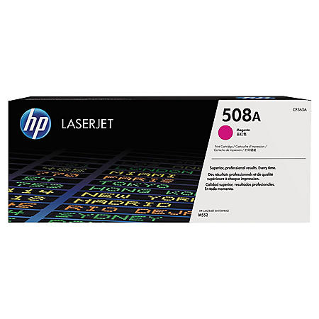 HP 508A (CF363A) Original LaserJet Toner Cartridge, Magenta