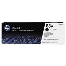 HP 83A (CF283A-D) 2-pack Original LaserJet Toner Cartridges, Black