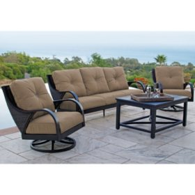 Rosemount 4-Piece Motion Deep Seating Set - Various Colors