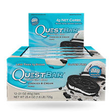 Quest Cookies and Cream Protein Bars (2.12 oz. bar, 12 ct.)