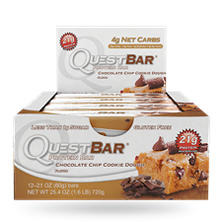 Quest Chocolate Chip Cookie Dough Protein Bar (2.12 oz. bar, 12 ct.)