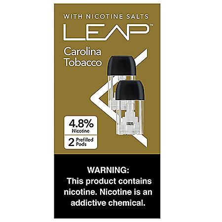 [OFFLINE]Leap Carolina Tobacco 4.8% Nicotine Salt (2 pods per pk., 5 ct.)