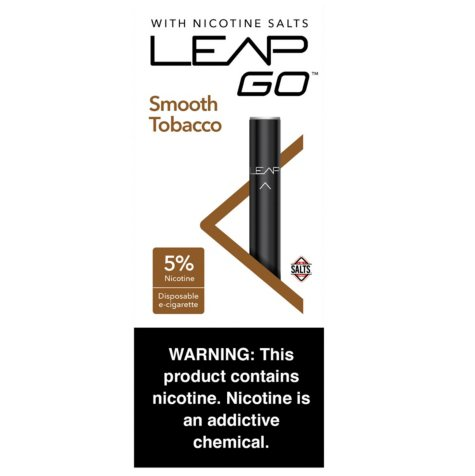 Leap Go Smooth Tobacco 5% Nicotine Salt Disposable (1 e-cig, 5 ct.)