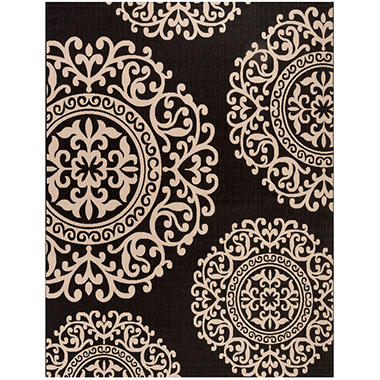 Safavieh Resort Collection Palermo Black Ivory Area Rug 8