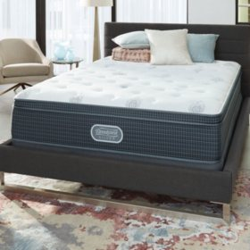 Beautyrest Silver Open Seas Plush Eurotop Queen Mattress Set