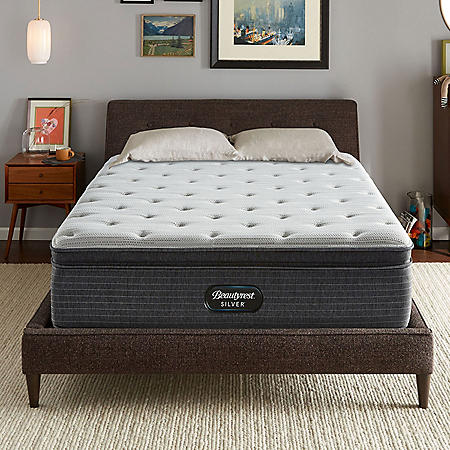 Beautyrest Silver Kayden Queen Plush Pillow Top Mattress Set