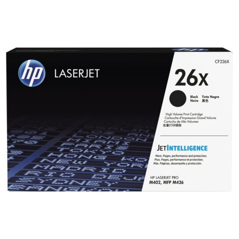 HP 26X, (CF226X) High Yield Original Toner Cartridge, Black