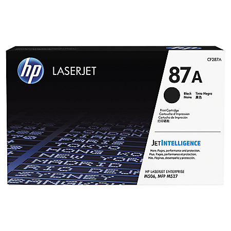 HP 87A (CF287A) Original Toner Cartridge, Black