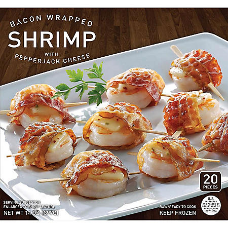 Bacon Wrapped Shrimp With Pepper Jack Cheese (14 oz., 20 ct.)